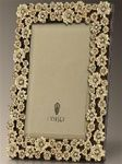 """8"""" x 10"""" platinum garland frame with white crystals by l'objet"""