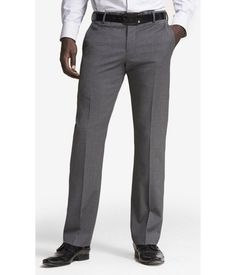 EXPRESS Mens Gray Wool Blend Photographer Suit Pant Gray W36 L32