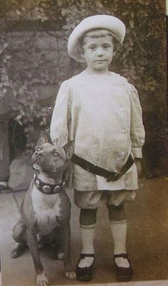 """Old photos of the """"Nanny Dog"""" – Staffordshire Bull Terrier   @KaufmannsPuppy"""