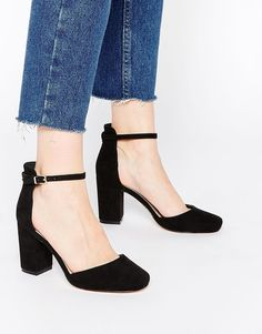 Discover a range of high heels with ASOS. Fromt black heels to bright silver, browse our range of classic peep toes, pumps or strappy sandals from ASOS. Fancy Shoes, Crazy Shoes, Cute Shoes, Me Too Shoes, Black High Heels, Black Shoes, Black Suede, Shoe Boots, Shoes Heels