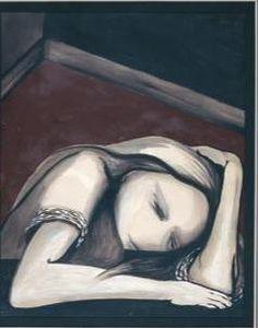 Joy Hester, 'Girl in Corner' (1957), Bruch and ink, gouache, 63.5 x 50 ...