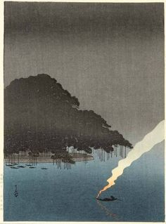 "iamjapanese: "" YOSHIMOTO Gesso(吉本月荘 Japanese, 1881-1936) Pine Tree at Karasaki 1910-1930′s woodblock print via more """