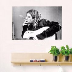 GB Eye kurt Cobain Smoking Custom Canvas Painting cloth print DIY Fabric Poster Wall Silk Poster F620W#-53