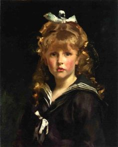 Painting hair, using John Singer Sargent's (one of the best, as most artists know) portrait of Jacques Barenton  - The idea is to paint shapes not every strand, paying close attention to the edges and values around the face where hair grows this is also true of eyebrows..