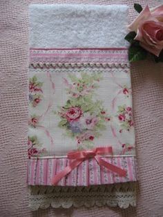 Shabby Cats and Roses: New Pretty Embellished Handtowels and a Goodwill find