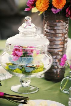 fill it with something like globe ornaments or christmas lights for a winter wedding