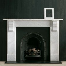 The Edwardian Corbel fireplace is a popular late century design with plain jambs and frieze and simple moulded corbel supporting a generous mantel shelf. Living Room Decor Fireplace, Home Fireplace, Fireplace Mantels, Mantel Shelf, Fireplace Ideas, Fireplace Screens, Mantles, Edwardian Fireplace, Edwardian House