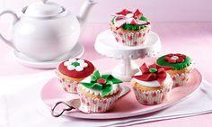 Windmühlen- und Blüten-Muffins - Leckere Muffins mit einer Dekoration aus Fondant