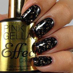Pink Gellac Effect Foils. Gellac met echte grote folie vlokken voor over alle Pi... Meer info: http://www.pinkgellac.nl/pink-gellac-gold-silver-effect