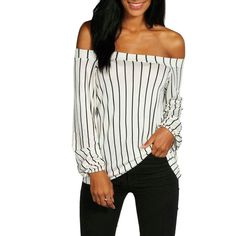63f218df15 T Shirt Women Fashion Autumn Off Shoulder Tops Long Sleeve Shirts Casual T  Shirt Sexy Women