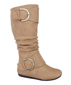 $24.99 This boot's slouchy silhouette adds style and texture to smooth ensembles. An inside zipper makes slipping them on a breeze, and urban-inspired buckles spruce up the decorative straps.$24.99
