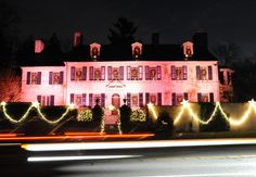 Holiday lights at Conestoga House • Insider Tip: Lots of beautiful light displays to be seen in the School Lane Hills neighborhood north of Marietta Avenue.