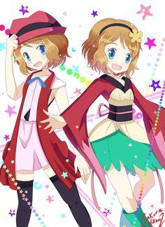 Los trajes que marcaron el inicio del exito :3 Arte por SakuraHikariz #PokémonXY #KalosQueen