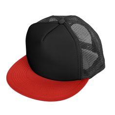 00411d2f34c DALIX Mens Mesh Trucker Cap Flat Bill Adjustable Snapback 5 Panel Plain Hat