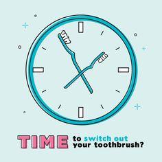 Recuerda cambiar tu cepillo dental cada 3 ó 4 meses porque las cerdas de desgastan y pierden su función limpiadora. ¿Tienes brackets? ¡Tenemos uno especial para ti en el consultorio!