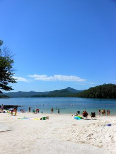 The beach in Hiawassee, GA - who needs the ocean when you have Lake Chatuge?
