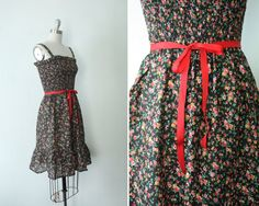 1970s ditzy floral print summer dress / little by AnatomyVintage, $52.00