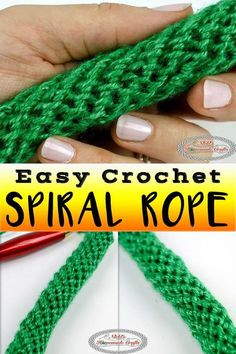 Learn how to crochet a Spiral Rope, Tube or Cord using this easy to crochet tutorial. It uses simple single crochet and can be used for bag handles. This crochet spiral rope tutorial is very detailed and is the easiest crochet rope pattern. Crochet Cord, Crochet Video, Crochet Motifs, Crochet Instructions, Crochet Stitches Patterns, Crochet Patterns For Beginners, Easy Crochet, Tutorial Crochet, Crochet Geek