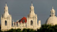 High up in the roof tops of #Lisbon the domes & spires of the city tower above the houses by decree of the Marques of Pombal - re-builder of the city after the 1755 earthquake.