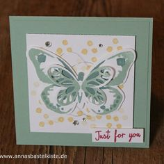 Frühling spring Schmetterling watercolor wings butterfly just for you stampin up AnnasBastelkiste