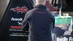 Trailblazer BBQ Grillmaster in action throughout outdoor event in Northern Ireland. Grill Master, Outdoor Events, Wedding Catering, Northern Ireland, Street Food, Trailers, Chef Jackets, Bbq, Action