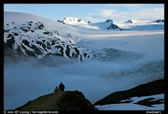 Harding Ice Field Hike-Seward, AK.  This is a 6-10 hour strenuous hike. The scenery is beautiful and when you get to the ice field...it's beautiful- we loved it.