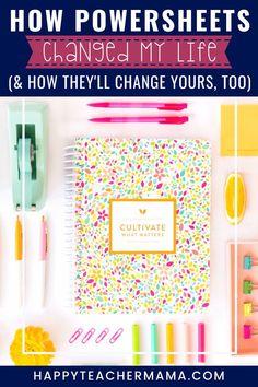 Goals Planner, Happy Planner, Planner Ideas, Bujo, Lara Casey, Goal Journal, Bullet Journal, Goal Planning, Teaching Jobs