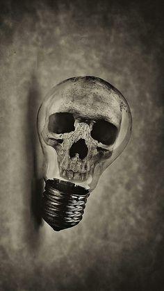 skull bulb ampoul Wallpaper by susbulut - - Free on ZEDGE™ Amoled Wallpapers, Badass Skulls, Totenkopf Tattoos, Skull Pictures, Skeleton Art, Bild Tattoos, Skull Island, Human Skull, Vanitas