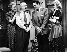Desi Arnaz, Lucille Ball, William Frawley and Vivian Vance