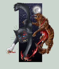 Scourge and Tigerstar. I mean how can SCOURGE DO THAT?! HE ISH EEEEEVVVVIIIIIILLLL!! Oh wait he already is :P