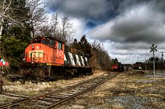 Abandoned train in Winslow Junction