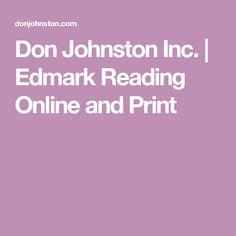 Don Johnston Inc. |   Edmark Reading Online and Print