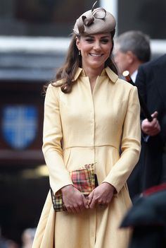Catherine, Duchess of Cambridge leaves St Giles Cathederal after the Thistle Ceremony on July 5, 2012 in Edinburgh, Scotland. Prince William, Duke of Cambridge will today be installed into the historic Order of the Thistle in a ceremony in Edinburgh attended by the the Queen and Duke of Edinburgh.