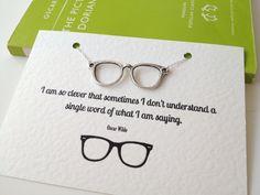 Oscar Wilde Geek Glasses Necklace by LiteraryEmporium on Etsy, £12.00