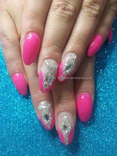 Ibiza nails! gel 50 with swarovski bling