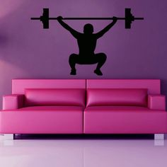 Bodybuilder Crossfit GYM Decor Sticker Vinyl Wall Art