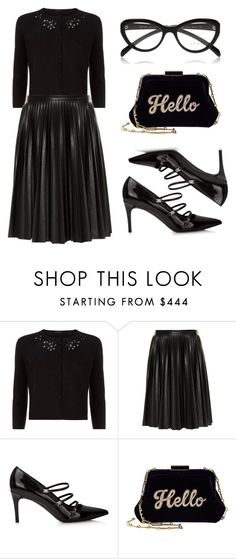 """""""Untitled #258"""" by elitsagospodin ❤ liked on Polyvore featuring MaxMara, Edie Parker and Prada"""