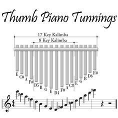 African Thumb Piano - Karimba, Mabira, Marimba, Calimba