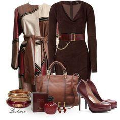 """Suede dress w/ leather jacket"" by leilani-almazan on Polyvore"