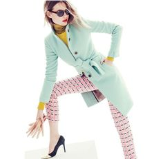 love this mint coat! J Crew