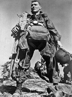 American paratrooper, 1945 by Robert Capa.