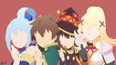 Well the opening was to catchy _________________________ Kono Subarashii Sekai ni Shukufuku wo! 2 by: © 2017 Akatsuki Natsume Official website. Konosuba Wallpaper, Laptop Wallpaper, Konosuba Anime, Anime Art, Light Novel, Akatsuki, Anime Mouth Drawing, Sora Kingdom Hearts, Minimalist Wallpaper