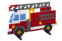 Emergency Squad (3418) - Fire Truck Hama perler beads