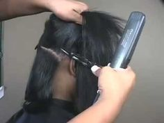 Straightening natural hair tutorial! So gonna try this!...one of these days