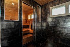 Modern sauna and bathroom