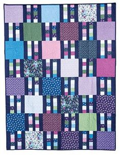 Pieced Lap Quilt Throw Pattern to Make in a Variety of Different Ways Charm Pack Quilt Patterns, Scrap Quilt Patterns, Quilting Ideas, Scrappy Quilts, Easy Quilts, Man Quilt, Hand Quilting, Fence, Kit