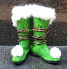 TK10 Tinkerbell winter boots furry · angel-secret · Online Store Powered by Storenvy