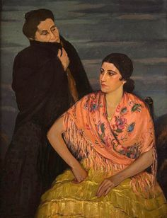 Louis Kronberg (1872 – 1965)- Marie And Her Mother