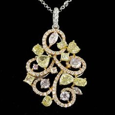 18K MULTI-TONE GOLD 4.06CT DIAMOND PENDANT - IMPERRION™ - Luxurious Jewelry & Beyond