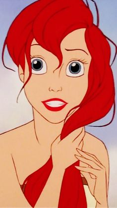 """ and ariel slipped her rosy red hair away and cast away on the shore with feet """